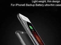 Wholesale Iphone Power Leather - Ultra thin External Battery Case for iPhone Backup Charger Case for iPhone 6 7s 7plus Power Bank cover
