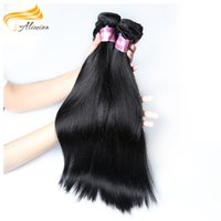 Wholesale European Straight Virgin Hair - Alimina Hair Brazilian Straight Hair Weave 100% Virgin Real Human Indain Vietnamese European Fast Shipping Can Be Customed