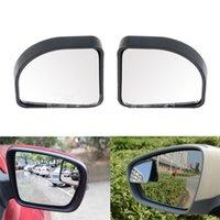 rückspiegel blinde flecken großhandel-2Pcs Auto Auto verstellbare Seite Blindspiegel Rearview Blind Spot Rückansicht Zusatz Mirro Kostenloser Versand
