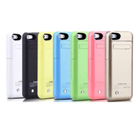 Wholesale Smart Phone External Battery Charger - 2200mah smart phone battery case for iphone 5 5S portable usb power bank external backup battery charger case colorful stand case BAC015