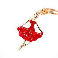 Wholesale Souvenir Purse - Beautiful 2017 Ballet Ballerina Dancer Girl Souvenir Gift Keychain Purse Pendant For Car Keyring Holder Women Jewelry
