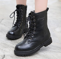 Wholesale Girl Colors Boots - 2016 New Snow Boots Kids Boys High Boots Black Colors Winter Boots Children's Shoes Girls Single Shoes