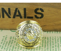 Wholesale Hawk Stone - free shipping 1961 Chicago Black hawks Stanley Cup Championship Ring Size 11