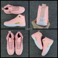 ingrosso vivido rosa-2017 Nuovo 12 GS Dynamic Pink Women Scarpe da basket Vivid Pink 12s Sneakers sportive Scarpe da ginnastica Scarpe da basket 36-40