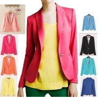 Wholesale Spring Autumn Women Blazer Jacket - New Spring Autumn Women's Blazer Coat One Button Jacket Suit Lady's Business Suit C3045