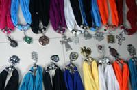ingrosso gioielli intagliati-Precipitò vendita diretta bianco rosso marrone sciarpa gioielli ciondolo collana moda donna morbido sciarpe gioielli mix design colori Dhl libero