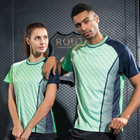 Wholesale Team Clothes Wholesale - Running Fitness Sportswear Quick Dry Breathable Badminton Shirt Women Men Table Tennis Volleyball Clothes Team Training Jerseys