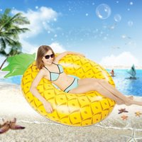 Wholesale Pool Materials - Inflatable Floats Giant Pineapple Watermelon Pool Float Swim Ring Pool Accessories High Quality PVC Material Drop Shipping