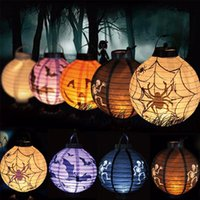 Halloween Dekoration LED Papier Kürbis Fledermaus Spinne Licht hängende Laterne Lampe Halloween Stützen Outdoor Party Supplies
