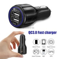 Wholesale 12v dual - QC 3.0 Fast Car Charger 3.1A 5V 9V 12V Dual Port for iPhone 7 8 X Samsung S8 Note 8 HUAWEI