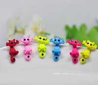 Wholesale Cat Earrings For Girls - Piercing Earrings Crystal Alloy Cute New Fashion Women Girl Cat Puncture Ear Stud Jewelry for Gift no Bead Silver Color