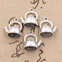 Wholesale Tibetan Teapot Antique - Wholesale- 99Cents 4pcs Charms teapot kettle 20*17*10mm Antique Making pendant fit,Vintage Tibetan Silver,DIY bracelet necklace