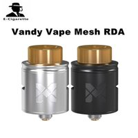 Wholesale Stainless Mesh Atomizer - Original Vandy Vape Mesh RDA Tank 1ml Capacity Stainless Steel Atomizer Fit For Wismec Reuleaux RXGEN3 Mod 2250006