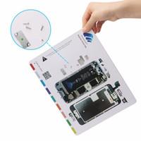 Wholesale Iphone Magnetic Mat - 1PCS Magnetic Screw Mat for iPhone 5,5s,6,6P,6s,6sP,7,7P Professional Guide Pad Mobile Phone Repair Tools