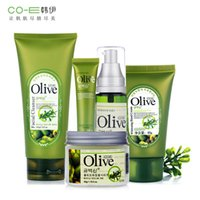 Wholesale Brand Face Skin Beauty Care Set Kit Olive Oil Face Cream Cleanser Eye Cream Toner Hand Cream Brightening Moisturizing Pores Cleaner