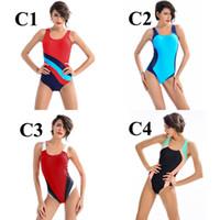 Wholesale women s professional swimwear online - New Women Professional Sport Triangular Piece Swimsuit One Piece Swimwear Bathing Suit Brazilian Bathing Suit S to XL Size
