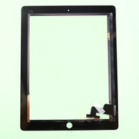 Wholesale Original Ipad Digitizer Button - Original Front Glass For iPad 2 3 Touch Screen Digitizer Flex Cable Touch Panel with Home Button Assembly With Adhesive