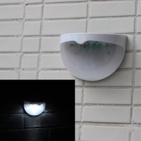 Wholesale Stairs Cover - NEW Arrival 6 LEDs Sensor Solar Powered Light Outdoor Lamp LED Wall Light Garden Lamp ABS+PC Cover Color Package Home Stair Waterproof Bulb