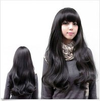 Wholesale New Fashionable Party Wig - Free Shipping>>> new Fashionable Women Sexy Cosplay Long Wavy With Bang Party Wig