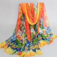 Wholesale Ladies Scarf Veil - Wholesale-Newest design Autumn and Spring scarf women fashion women's long scarf leaves print veil scarves ladies stoles soft warm shawls