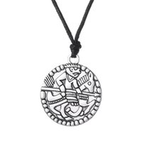 Wholesale Wholesale Medallions Jewelry - Viking Rider With a Spear Pendant Necklace Men Vikings Animal Jewelry Medallion Amulet Necklace For Men and Women Free Shipping