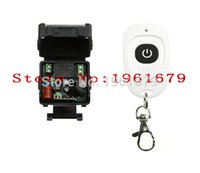 Wholesale 315 Mhz Remote - Wholesale-AC 220 V 1 channel RF mini Wireless Remote Control 1 * Receiver & 1 * Transmitter 315 mhz or 433 mhz