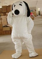 Wholesale Snoopy Dog Costume - EPE Adult Size Snoopy Dog Mascot Costume Halloween Chirastmas Party Fancy Dress Free Shipping