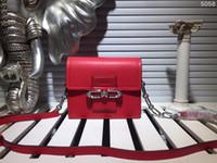 Wholesale Pink Small Girls Model - Cow Leather women Flap shoulder bags Luxury brand designer handbag original fashion 4 color size 19x16x7cm model 177702205