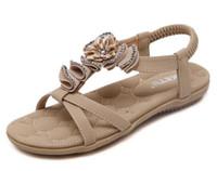 Wholesale Wedges Heel Shoes Bling - Plus Size 35-41 Summer Sandals Bling Rhinestone Flats Women Platform Wedges Sandals Fashion Flip Flops Comfortable Shoes Woman G255