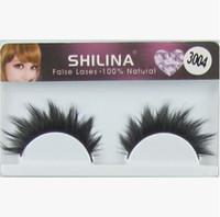Wholesale Shilina Eyelashes - Wholesale SHILINA 3004 False Eyelashes 1lot 20 Pairs Handmade Fake Eye Lashes Natural Thick With Retail Box Professional Makeup Freeshipping