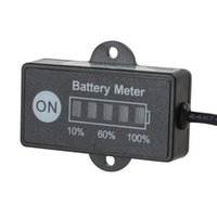 Brand New Preccurate LED Battery Capacity Indicator Nível Meter Gauge 12V / 24V para Bateria de Chumbo-ácido CEC_539