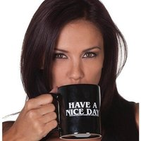 Wholesale office d - Ceramic Mug Middle Finger Coffee Tea Milk Cup Personality Office Novelty Gift Have A Nice Day Mugs 11 5yy FY