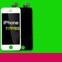 iphone сенсорный дигитайзер сенсорный полный оптовых-2017 Черный Класс A +++ ЖК-Дисплей С Сенсорным Дигитайзером Полный Экран с Рамкой Полная Замена Ассамблеи Для iPhone 7 iPhone 7 Plus