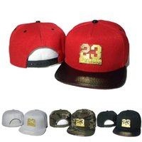 Wholesale Snapback Cap Snakeskin Cheap - New Fashion Metal Logo Snapback Men Women Caps Fly Hats Snap Back 23 Snakeskin Cap Leopard Golden Hat Camo Cheap Sale
