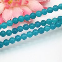 Wholesale Red Craft Beads - 6mm 8mm Accessories Amazonite Jade Crafts Loose DIY Round Beads Balls Jasper Jade Jewelry Making Women Girl Christmas Gift Gems