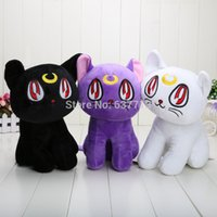 Wholesale 12 inch Japanese Anime Cartoon Sailor Moon Cat Luna Plush Animal Plush Doll Figure Toy