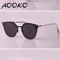 Wholesale Boy Girl Case - New Summer metal 1.0 Sunglasses Steampunk Fashion Retro Sunglasses Oculos De Sol UV protect Sun glasses Women Brand Designer with case