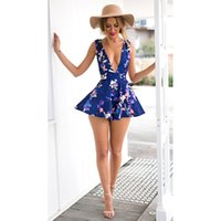 Wholesale Jumpsuits Shorts Style For Women - Sleeveless Summer Style Beach Ladies Rompers Sexy Hollow Out Bandage Jumpsuit For Women Free Shipping