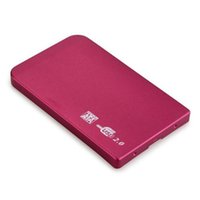 "Wholesale External Slim Enclosure - Wholesale- Hot Selling External Enclosure for Hard Drive Disk 2.5"" Usb 2.0 Ultra Slim Sata Hdd Portable Case Red"