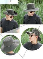 Wholesale Chemicals For Fish - 4 color Men's outdoor sun hat visor wholesale fisherman hat hiking cap sun hat for fish