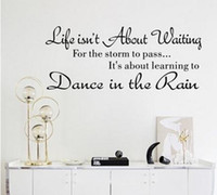 Wholesale Dancing Rain Sticker - dance in the rain wall stickers home decoration bedroom wallpaper wall art decor wall sticker
