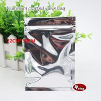 Wholesale Ziplock Plastic Bags 22 - 22*30cm Opaque aluminium ziplock bag   Aluminum foil plastic pouch  Food storage packaging Sealed bags. Spot 100  package