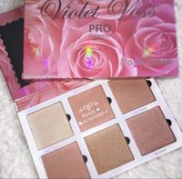 Wholesale Rising Stocks - In Stock NEW Makeup Violet Voss Rose Gold Highlighter Palette Face Bronzers & Highlighters 6 Color