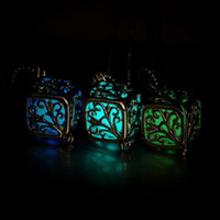 Wholesale steampunk locket necklace - luminous Steampunk Cute Magic Fairy Locket Glow In The Dark Pendant tree of Life Necklace