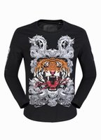 Mens Long Sleeve Tiger Dragon 3D bedruckte Designer Shirts Luxus Polo T Shirt Slim Pullover T Shirt Boys Sport Jacke 18103