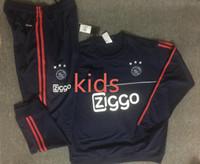 Wholesale Tracksuits Jacket Pants - 2017 kids ajax survetement football tracksuits 2018 KLAASSEN MILIK Long pants wear ajax kids training suit jacket kit