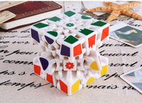Wholesale 3d Stickers Puzzles - Wholesale 3D Cube Puzzle Magic Cube 3 x 3 x 3 Gears Rotate Puzzle Sticker Adults Child's Educational Toy Cube DHL free shipping
