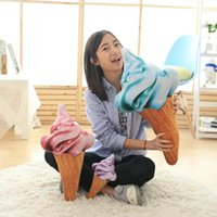 Wholesale new design D sweet ice cream pillow cushion car waist support cushion Soft Plush Stuffed Doll Toys Creative Pillow