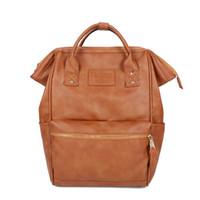 Wholesale ring style japan resale online - Japan Style Fashion PU Ring Backpack Rucksack Unisex School Bag Campus Big Size