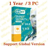 ESET NOD32 Antivirus Smart Security 2017 clé code d'activation V10.0 V9.0 V8.0 1 an 3 appareils 3PC 100% plein travail de soutien Multilanguage